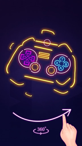 Neon Glow – Perspective 3D Color Puzzle Game 1.1.0 screenshots 1