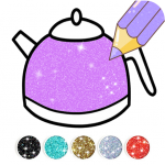 Download Kitchen Coloring Book With Animation – Glitter 3.0 APK For Android
