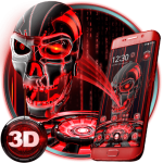 Download 3D Tech Blood Skull Theme 1.1.22 APK For Android