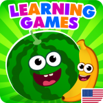 Download FunnyFood Kindergarten learning games for toddlers 2.0.1.2 APK For Android