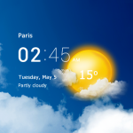 Download Transparent clock & weather – forecast & radar 3.50.0.2 APK For Android