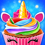 Download Unicorn Cupcake Baking Kitchen: Dessert Games 0.1 APK For Android