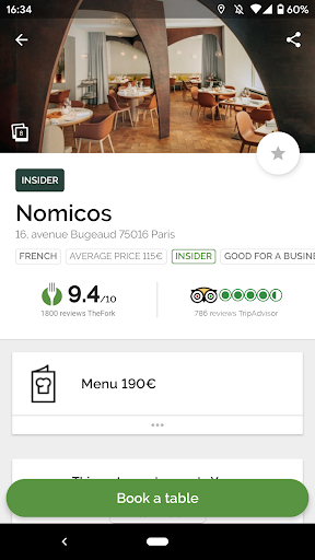 TheFork – Restaurants booking and special offers 15.0.1 screenshots 1