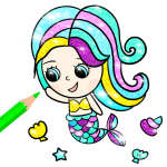 Download Little Mermaid coloring book 1.0.5 APK For Android