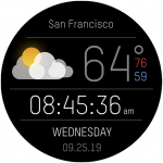 Download Weather Black Premium Watch Face 1.0.13 APK For Android