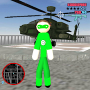 Green Hero Stickman Rope Hero Gangstar Crime 1.2