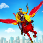 Download Flying Horse Robot Hero Cowboy Robot Games 4 APK For Android
