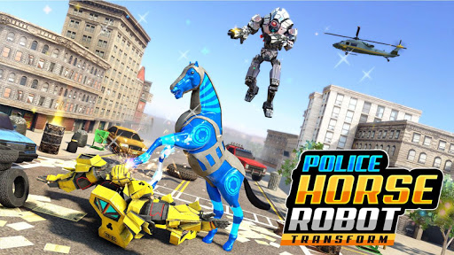 Police Horse Robot Transform Car Robot Games 1.0.2 screenshots 2