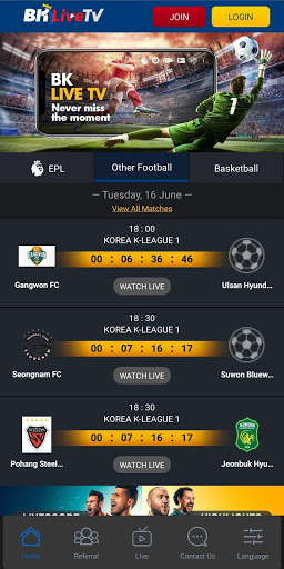 Download BK Live TV HD - EPL 4.5.0 APK For Android