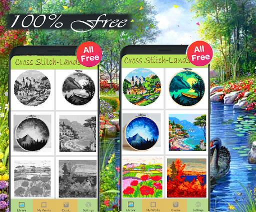Download Cross Stitch Landscape Coloring By Number-Pixel 3.0 APK For Android