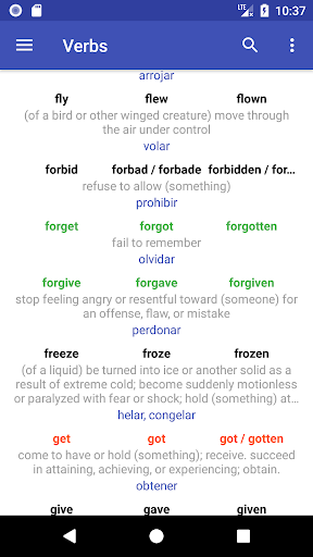 Download English Verbs 4.5 APK For Android
