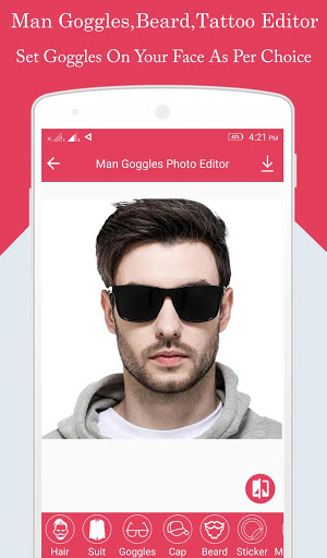 Download Man Goggles,Beard,Tattoo Editor 1.0.4 APK For Android
