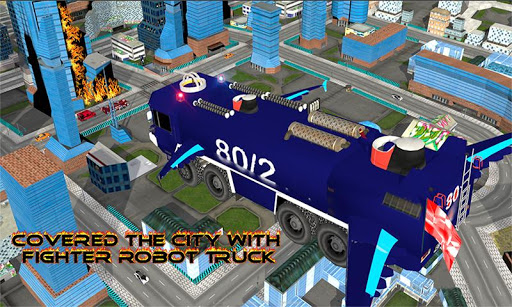 Download Real Robot fire fighter Truck: Rescue Robot Truck 1.6 APK For Android