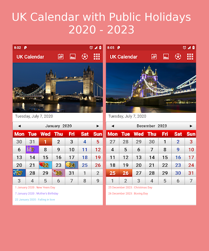 Download UK Calendar 2020 2.11 APK For Android