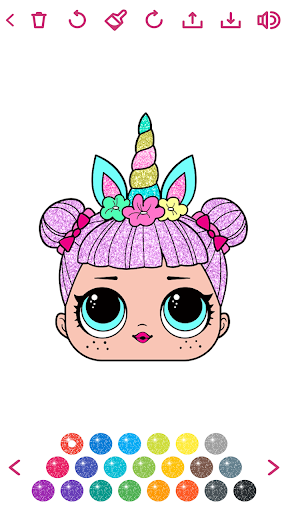 Download Cute Glitter Dolls Coloring Pages 2.0 APK For Android