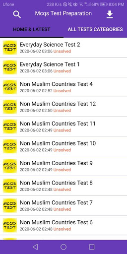 Download Mcqs Tests Preparation 1.1.1 APK For Android